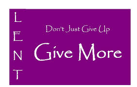 lent-give more